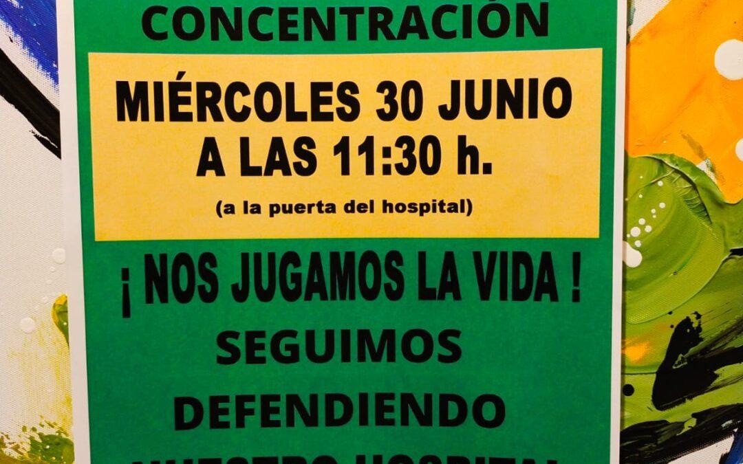 Concentración Béjar 30 junio. Plataforma Sanidad Béjar.
