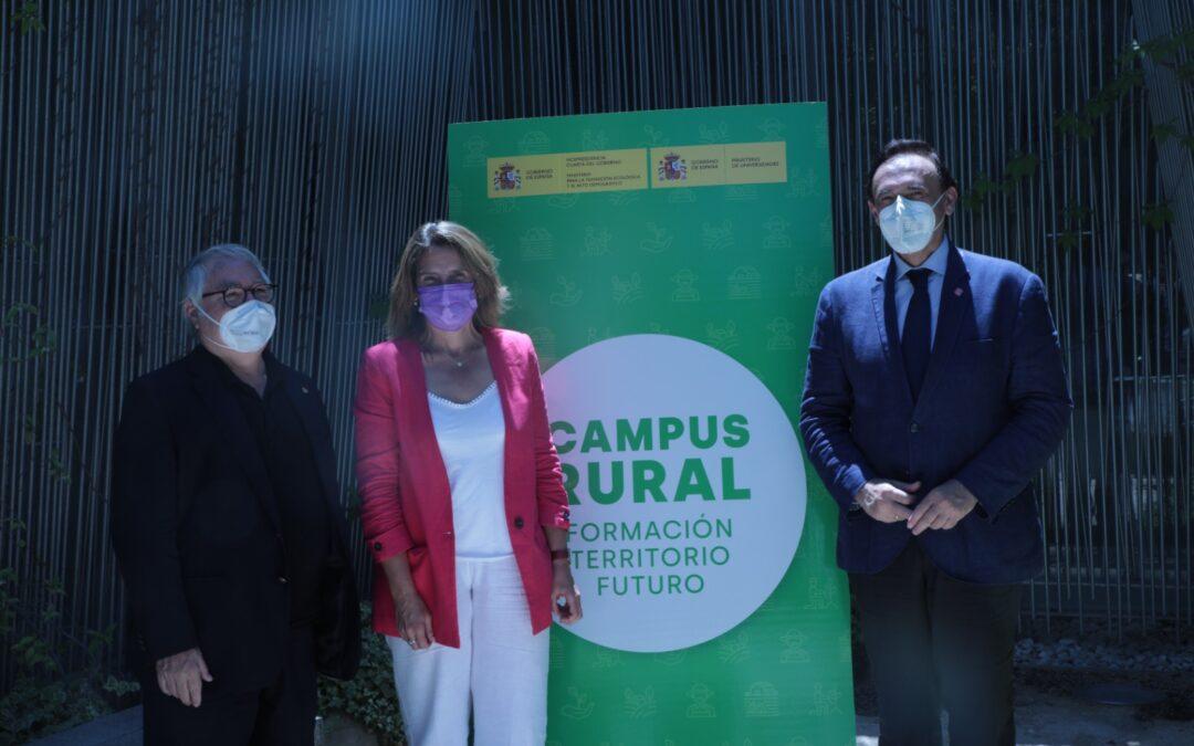 Teresa Ribera presenta el Programa Campus Rural para reconectar a los estudiantes universitarios con el territorio a través de prácticas de inmersión rural en zonas en riesgo de despoblación